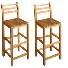 scaune de bar 2 buc lemn masiv de salcâm 42x36x110 cm