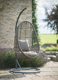 our rattan nest chair comes with its own stand so your can relax anywhere in the