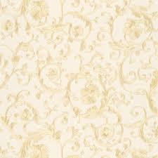 Baroque Design Wallpaper Versace White And Gold Baroque Trail Wallpaper