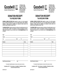 salvation army receipt goodwill donation form fill online printable fillable blank