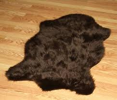 fake bear skin rug rugs with head for faux white