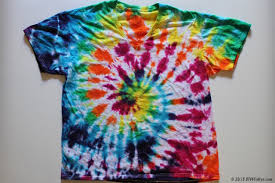 tie dyed t shirt with a rainbow spiral pattern