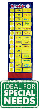 Daily Schedule Pocket Chart Inclusive Education Autism