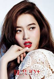 go ara charms with her grown up appeal for beauty magazine