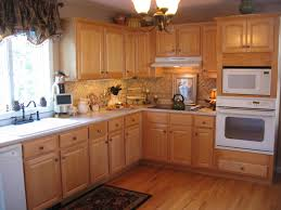 Elegant Warm Nuance Kitchen Color Ideas With Wood Cabinets With Wooden  Floor Can Add The Beauty