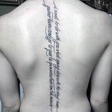 Spine Tattoos Quotes Amazing 48 Spine Tattoos For Men Masculine Ink Design Ideas