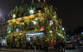 2016 Christmas Light Trade In The Churchill Arms Britains Most Festive Pub
