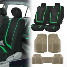 black green car seat covers with beige rubber floor mats for auto car suv 0