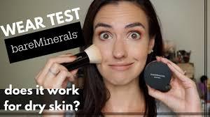 bareminerals original foundation dry skin wear test application demo makeup