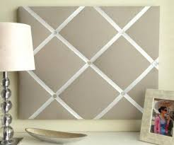How To Make Fabric Memo Board Custom FabricPictureBoardWithRibbon But Simple SolidColor French