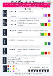 exle meal plan 80 day obsession meal plan a