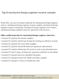 resumes for mechanical engineers top 8 mechanical design engineer resume samples 1 638 jpg cb 1427960142