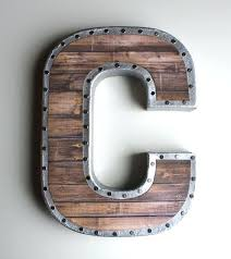 block letters for wall image gallery of large metal wall letters fly can cardboard block