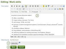 résumé — mahara   user manualenter skills