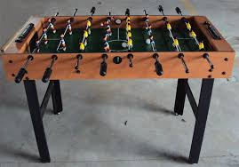 Miniature Wooden Foosball Table Game Qingfeng TableMini Table Football Game Type Mini Table Babyfoot 56