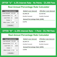 Compare Loans Side By Side Real Apr Mortgage Calculator Calculate Actual Home Loan
