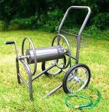 liberty garden cast aluminum wall mount hose reel parts industrial two wheel cart