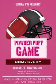 powder puff football flyers