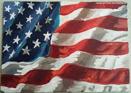 american flag painting by howie green