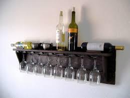 unique idea of pallet wood wine rack in dark espresso