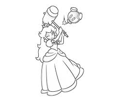 princess peach coloring pages printable free