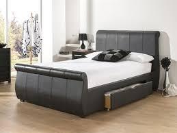Snuggle Beds Alabama 5 King Size Black Leather Bed