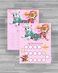 Potty Training Chart Printable Paw Patrol Digital Paw Patrol Skye Potty Training Chart And Reward Chart High Res Jpg Files Instant Download Ready To Print