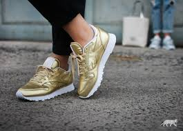 reebok x face stockholm classic leather spirit sensation gold white