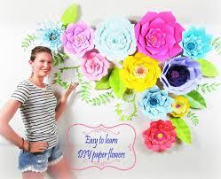 Diy Giant Paper Rose Flower Diy Wedding Decor Diy Giant Paper Flower Backdrop Diy