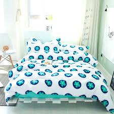 blue flowers print duvet cover set 100 cotton solid color bed sheet fl pillow case navy