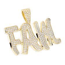 custom jewelry solid 10k gold real diamond mens pendant by luxurman inside necklace