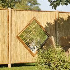 Sichtschutzwand Bambus Sichtschutzelement Zen Raute Sichtschutz