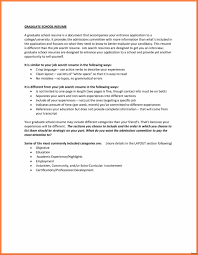 Sample Graduate School Resume Resume Template For High School Graduate College Applications 35