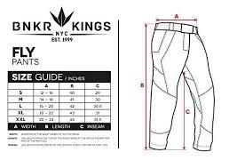 Bunker Kings V2 Supreme Pants Size Chart Bunker Kings Featherlight Fly Paintball Pants Medium Md Black