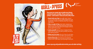 wall press desk exercise