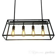 iron rectangular chandelier loft pendant lamp retro industrial black iron rectangular chandelier living room dining room iron rectangular chandelier