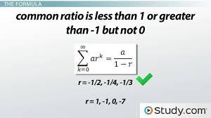 understand the formula for infinite geometric series lesson transcript study com