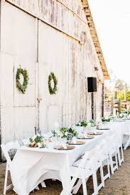 wedding table ideas. Rustic White And Green Outdoor Barn Wedding Table Ideas R