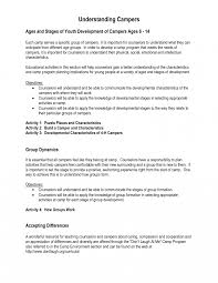 Day Camp Counselor Resume Examples Templates Best Solutions Of Youth