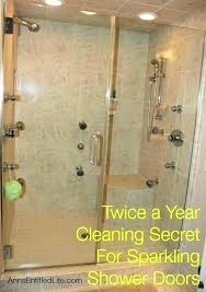 best thing to clean glass shower doors how to clean water spots off shower door hard
