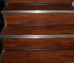 vinyl can be installed on vertical stair surfaces