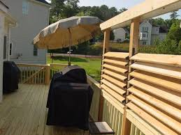 backyard ideas deck. diy simple louvered privacy fence for deck patio in your backyard ideas w