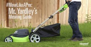 grass height mowing guide