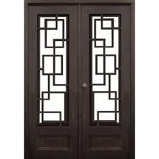double prehung wrought iron entrance door