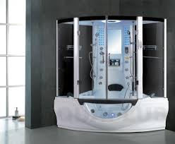 Decoration Ideas Fabulous Corner Steam Whirlpool Jacuzzi With - Bathroom with jacuzzi and shower