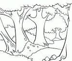 Лес раскраска для детей картинка 27