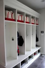 ll bean waterhog mats traditional entry also baskets coat hooks cubbies grey tile lockers mudroom porcelain tile shoe storage white cabinets