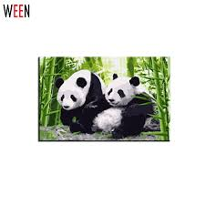 <b>WEEN DIY</b> Panda Oil Painting By Numbers Animal Picture On Wall ...