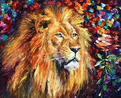 wall decor craft about lion abstract canvas oil paintings decoration modern art wall pictures for living