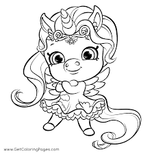Rainbow Sparkle Coloring Pages Shimmery Unicorn From Shopkins Get